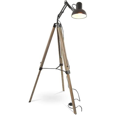 Mojo Tripod Industrial Chic - Lámpara de pie retro vintage ...