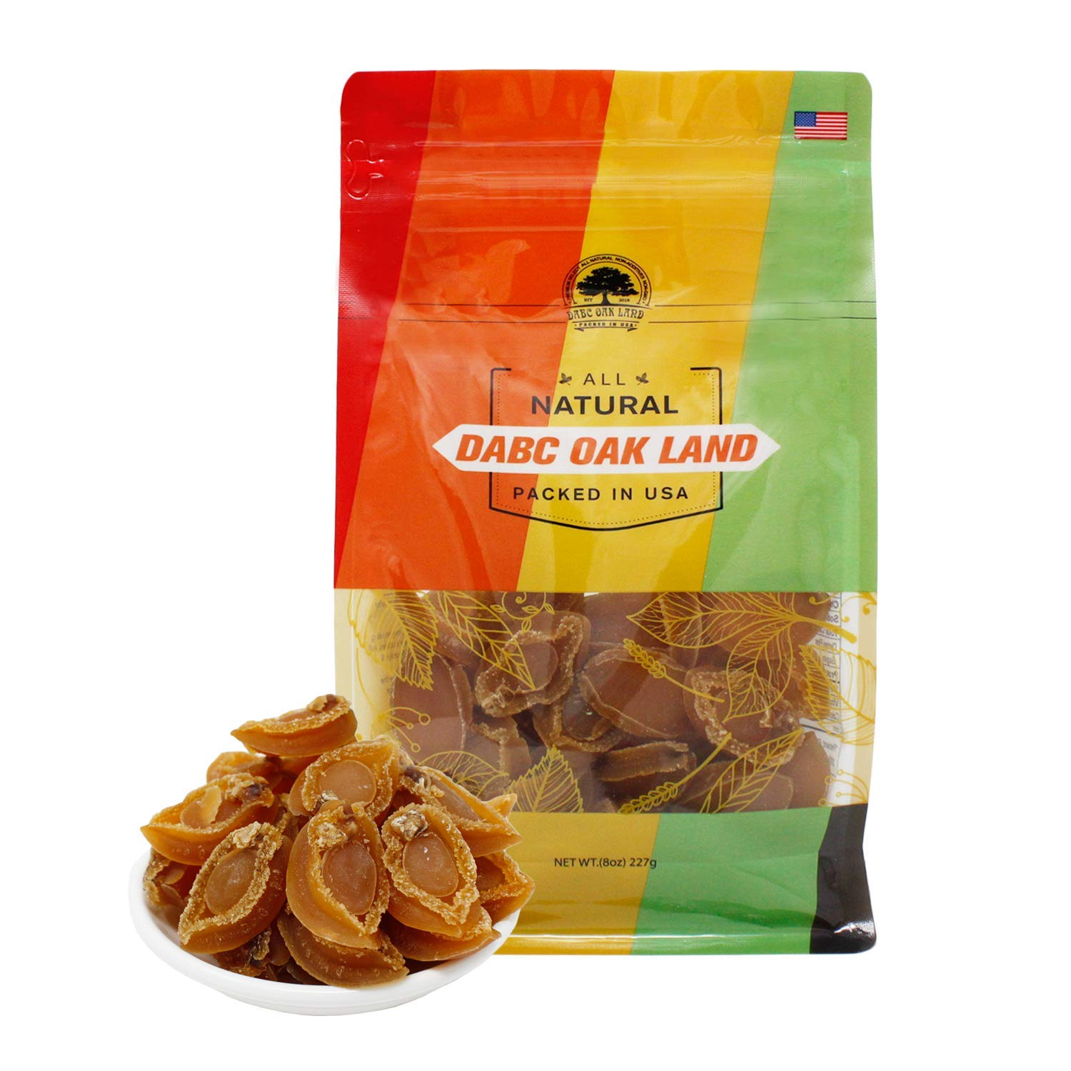 DABC OAK LAND Dried 8OZ=227g/Bag Abalone Baoyu,Dried Seafood Jerky & Dried Meats 实惠款鲍鱼仔 70~75pcs/8OZ MA 083# Bag