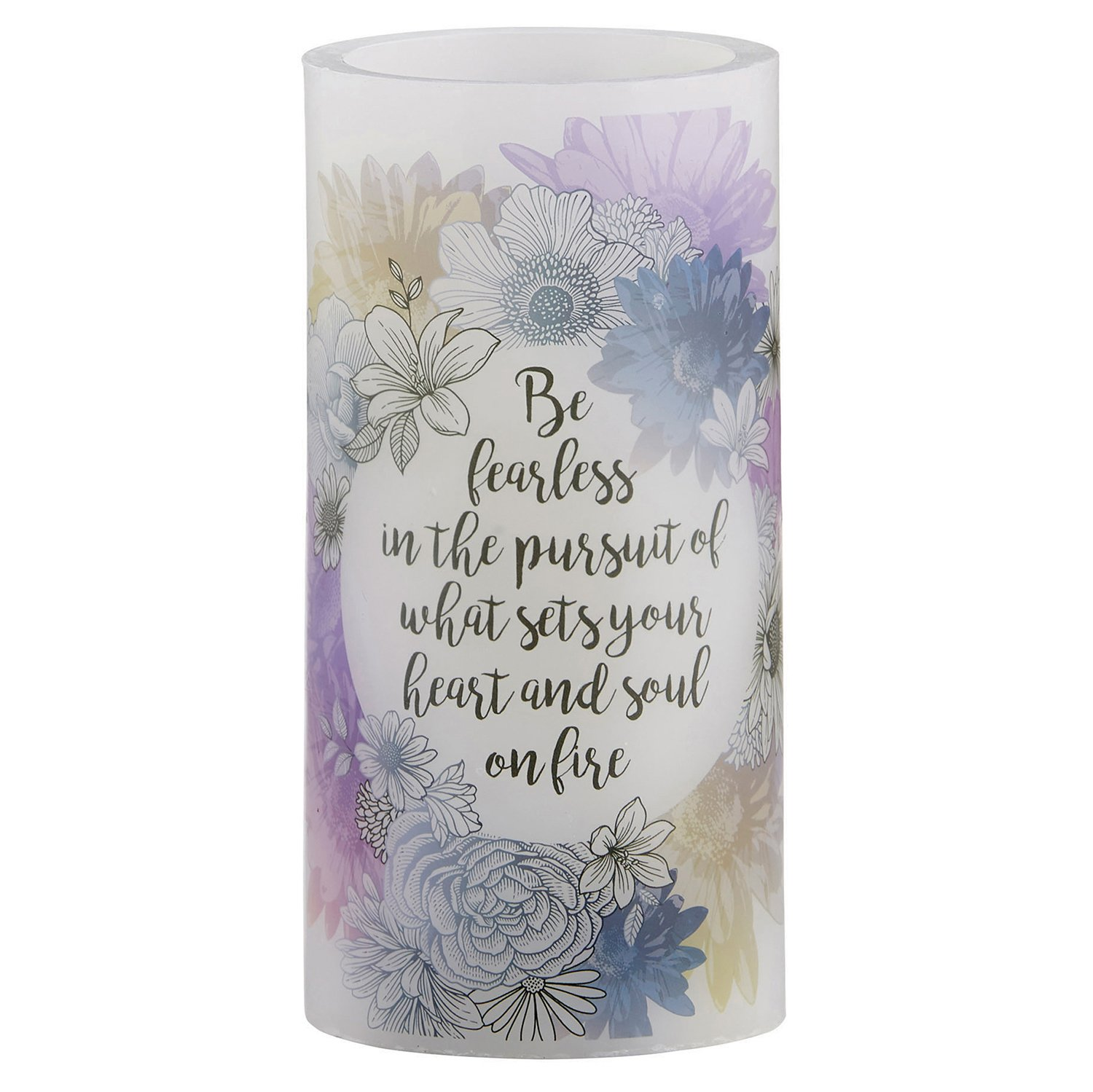 CB Gift Heart Led Candle, 3″ x 6″, Prayer Without Cleansing