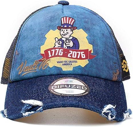 Fallout Vault 76 Vintage Trucker Cap Gorra de béisbol, Azul Blue ...
