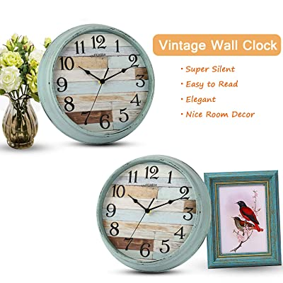 Buy Hylanda Rustic Wall Clock Wall Clocks Battery Operated 12 Inch Country Style Silent Non Ticking Clock Decorative For Kitchen Home Living Room Farmhouse Bedrooms Online In Germany B089hltpdy