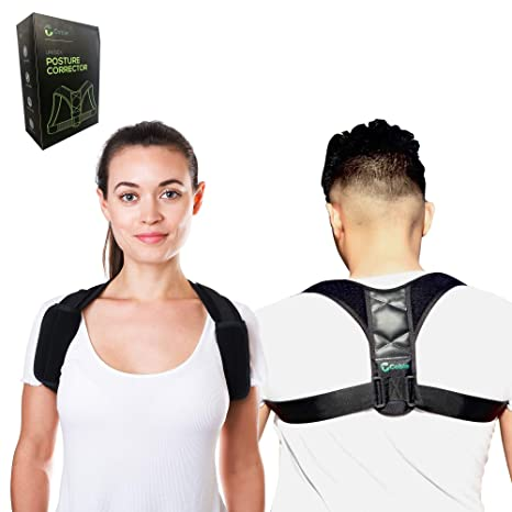 1409ccce0 Cobie Posture Corrector for Men and Women - Comfortable   Orthopedic Upper  Back Brace for Poor Posture   Clavicle Support - Back Straightener -  Posture ...