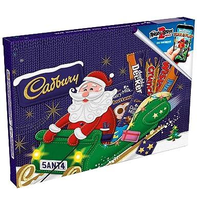 NEW CADBURY CHRISTMAS SANTA 1 BOX 6 SELECTION BARS GIFT FESTIVE FAVOURITES