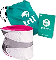 trtl Pillow Plus, Travel Pillow - Fully Adjustable Neck Pillow for Airplane Travel, Car, Bus and Rail. Includes Water Proof C