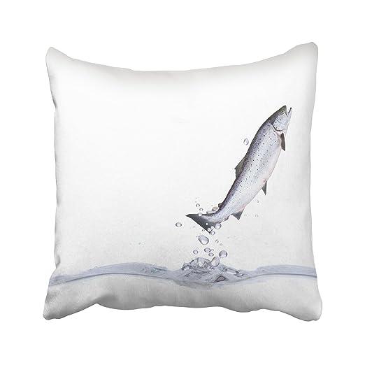 Emvency - Funda de Almohada Decorativa con diseño de pez ...