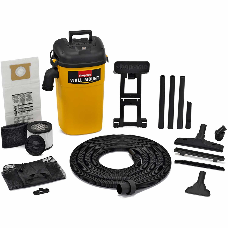 Shop-Vac 3942000 5 Gallon 4.0 Peak HP Wall Mount Wet/Dry Vacuum by Shop-Vac
