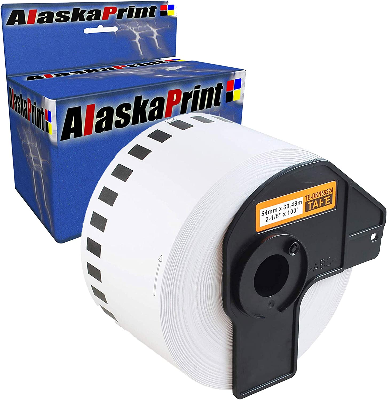 2 Etiketten kompatibel mit Brother DK-22225 P-Touch QL1050 QL1060N QL500 QL550 Q
