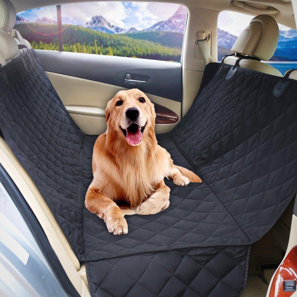 YZCX Coprisedile Auto per Cani 100% Impermeabili Antiscivoli Protezione Sedile Posteriore da Viaggio con Alette Laterali 147 x 137cm per Animali Domestici