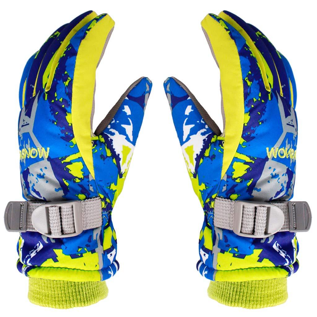 kids Ski Gloves Waterproof Outdoor Warm Windproof Anti-Slip for Winter Sport HongyingTradingCo. LTD