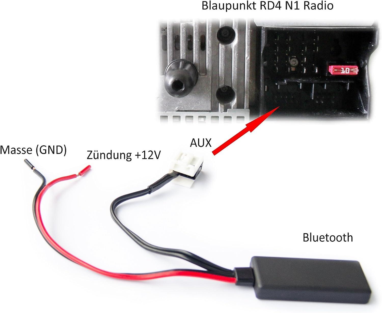 Adaptador Bluetooth para Citroen, Peugeot, AUX IN, audio, música, radio