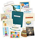 Birthday Cards Assortment Box - 35 High Quality Cards and 38 Envelopes