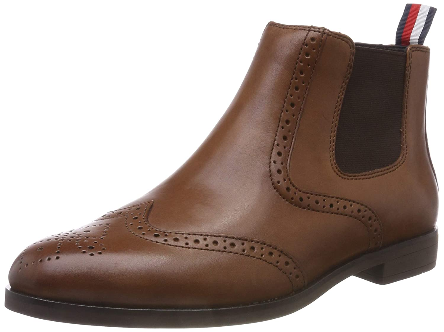 a6d62bfcece8 Tommy Hilfiger Men s Dressy Casual Leather Chelsea Boots  Amazon.co.uk   Shoes   Bags