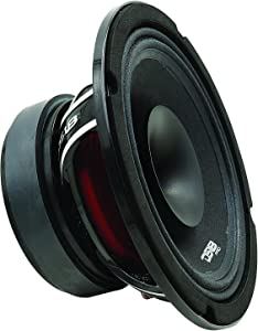 DS18 PRO-HYBRID8 8 Inch Midrange 2-Way Coaxial Driver, 400 Watts Max - Set of 1,BLACK