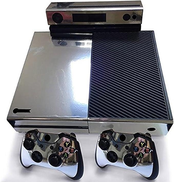 stillshine Xbox One Diseño Pantalla para mando de consola + 2 + cámara Pegatinas Skin Set plateado Glossy Silver: Amazon.es: Informática