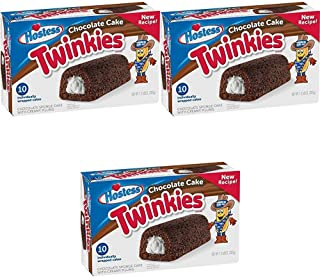 product image for Hostess Chocolate Cake Twinkies, 10 Count, 13.58 Ounce (Pack of 1)-SET OF 3 Pack of 3