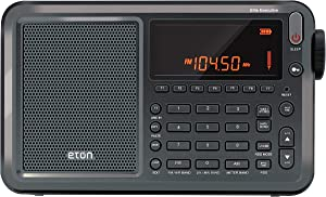 Eton Elite Executive AM/FM/Aircraft Band/SSB/Shortwave Radio with RDS & Custom Leather Carry Cover, Model:NELITESATELLIT