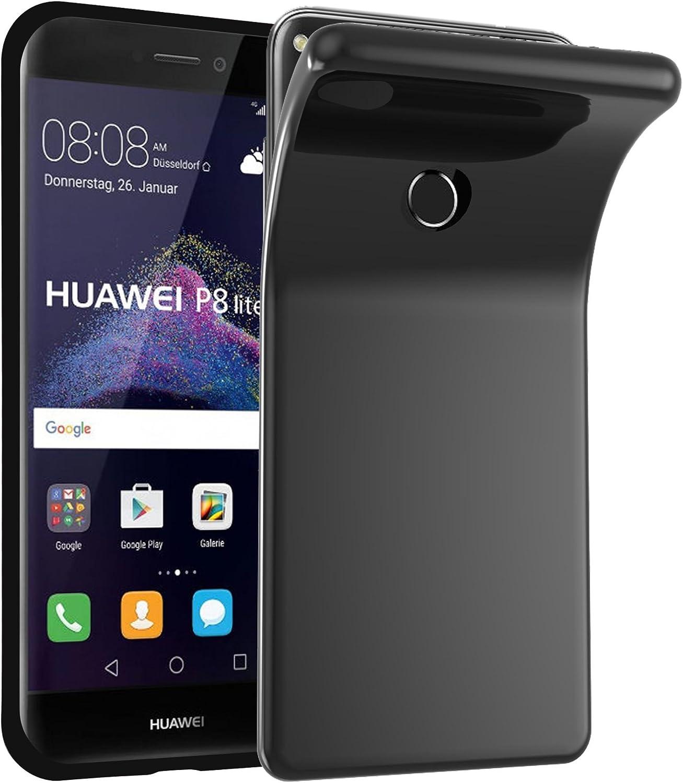 Cadorabo Funda para Huawei P8 Lite 2017 en Negro – Cubierta Proteccíon de Silicona TPU Delgada e Flexible con Antichoque – Gel Case Cover Carcasa Ligera: Amazon.es: Electrónica