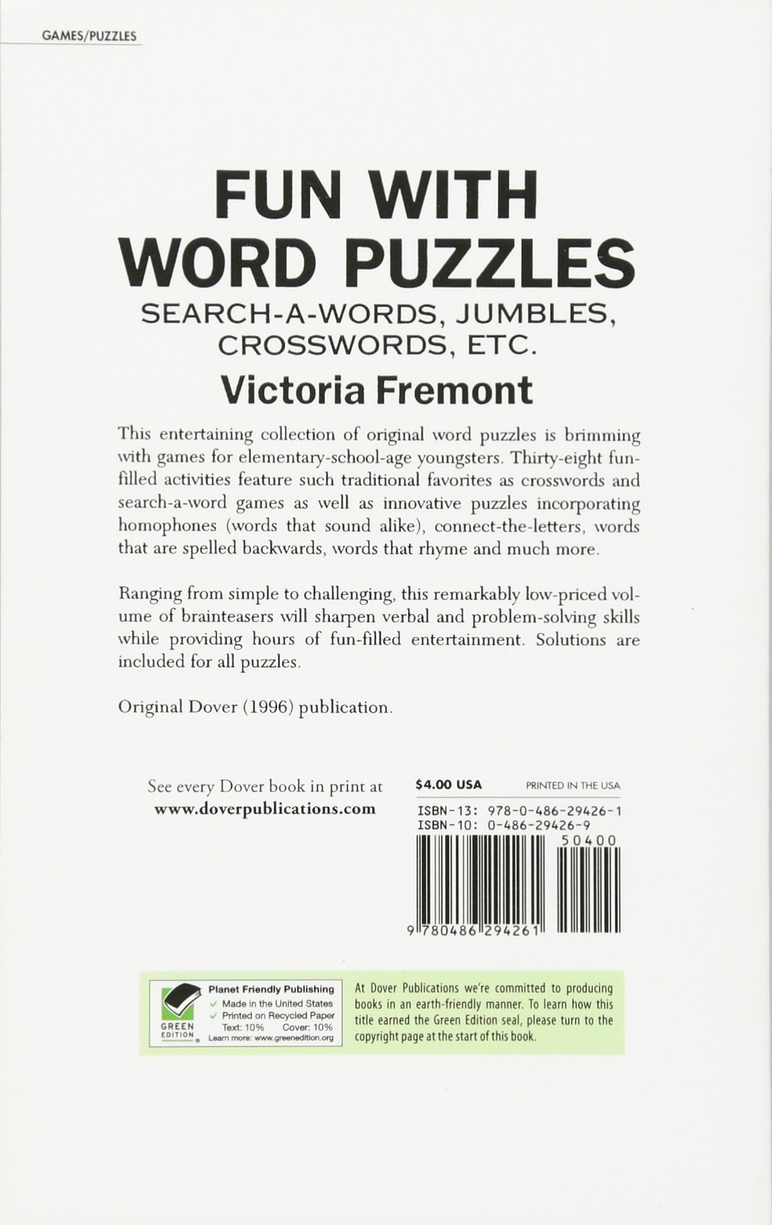 Fun with Word Puzzles: Search-a-Words, Jumbles, Crosswords