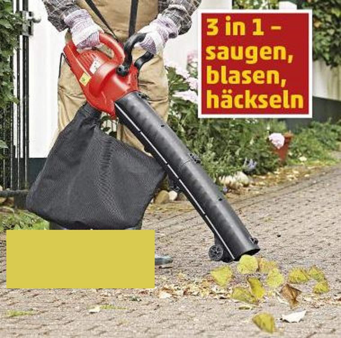 und H/äckselfunktion Elektro Laubh/äcksler Laubsauger mit Bla/ß