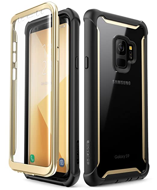 Samsung Galaxy S9 Case, i-Blason [Ares] Full-Body Rugged Clear Bumper Case with Built-in Screen Protector for Samsung Galaxy S9 2018 Release ...