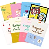 FaceTory Combination Skin Type Sheet Mask Collection - Balancing, Hydrating, Calming (Pack of 8)