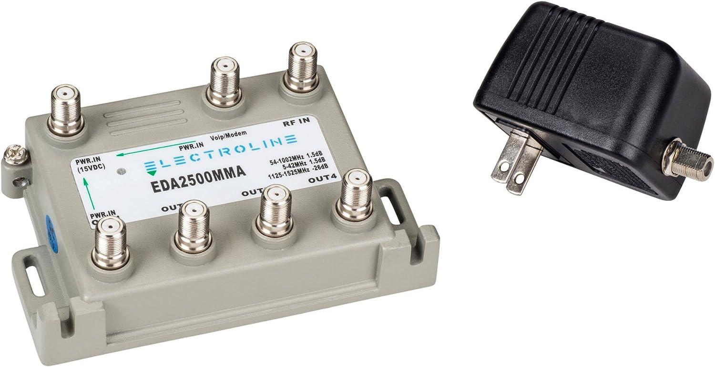 Electroline EDA2500MMA 4-port RF//CATV Distribution Amplifier