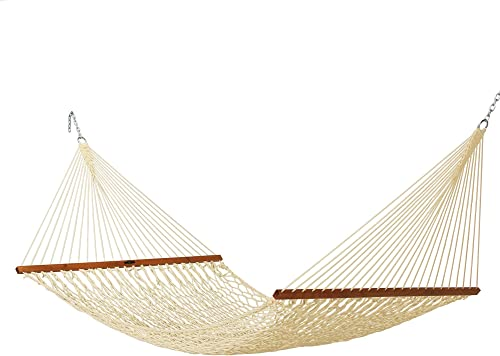 Original Pawleys Island 14DCOT Deluxe Oatmeal Duracord Rope Hammock