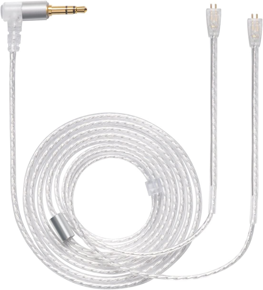 MOKOSE Replacement Upgrade Balanced Cable Silver Plated Audio Wire for Ultimate UE TripleFi 10 15vm TF10 TF15 Super.Fi 3 5pro 5EB Earphone