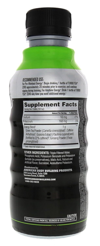 Amazon.com: ABB Turbo Tea Zero Green Tea 12 - 18 fl oz (532 ml) Bottles: Health & Personal Care