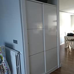 Habitdesign MAX020BO- Armario 2 Puertas Correderas y Estantes, para Dormitorio o Habitacion,Acabado en Blanco Brillo, Medidas: 120 cm (Largo) x 200 cm (Alto) x 50 cm (Fondo): Amazon.es: Juguetes y juegos