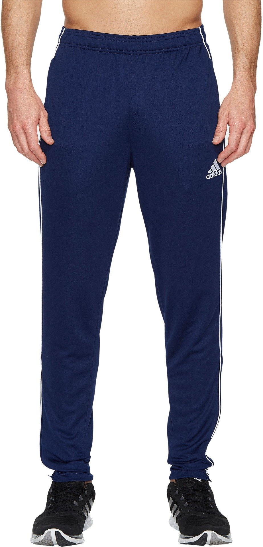 adidas Men's Soccer Core 18 Training Pants, Dark Blue/White, Large