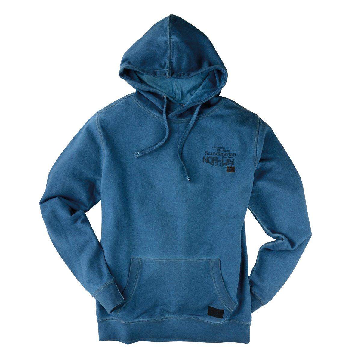 Kitaro XXL Used Look Kapuzen-Sweatshirt aquablau
