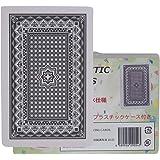 トランプ カードゲーム 防水トランプ プラスチック スタンダード マジック 水洗い (ブラック)