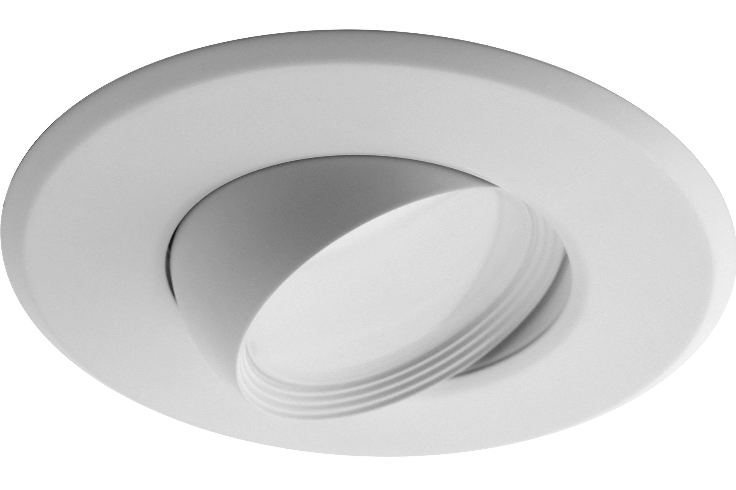 NICOR Lighting 5/6-Inch Dimmable 2700K Adjustable Eyeball LED Recessed Retrofit Downlight, White (DEB56-20-120-2K-WH)