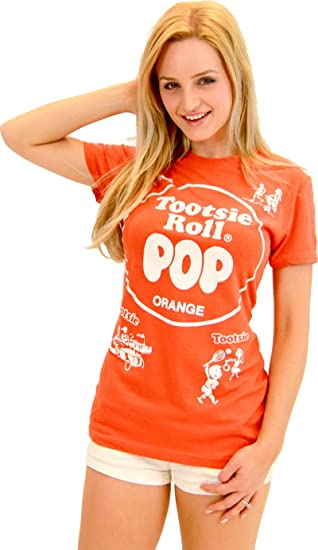 Amazoncom Tootsie Roll Pop Assorted Colors Juniors Costume T Shirt
