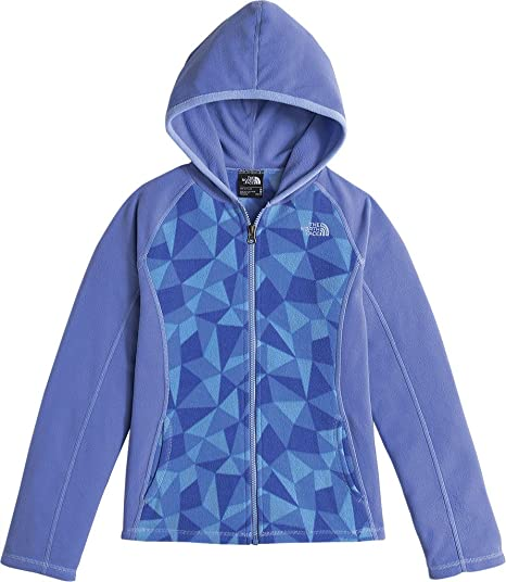 The North Face Glacier Full Zip Hoodie Girls  Grapemist Blue Triangle Camo  Large 7cffbee69