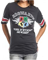Bioworld Harry Potter Hogwarts Juniors Black Hockey T-Shirt