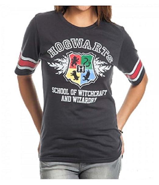 102e89b0 Amazon.com: Bioworld Harry Potter Hogwarts Juniors Black Hockey T ...
