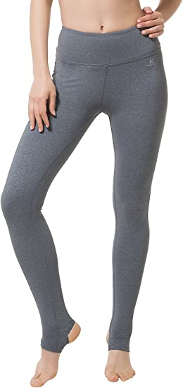 Matymats Women S Yoga Pants Stirrup Leggings Gym Active Workout Running Tights Light Grey Amazon Ca Clothing Accessories
