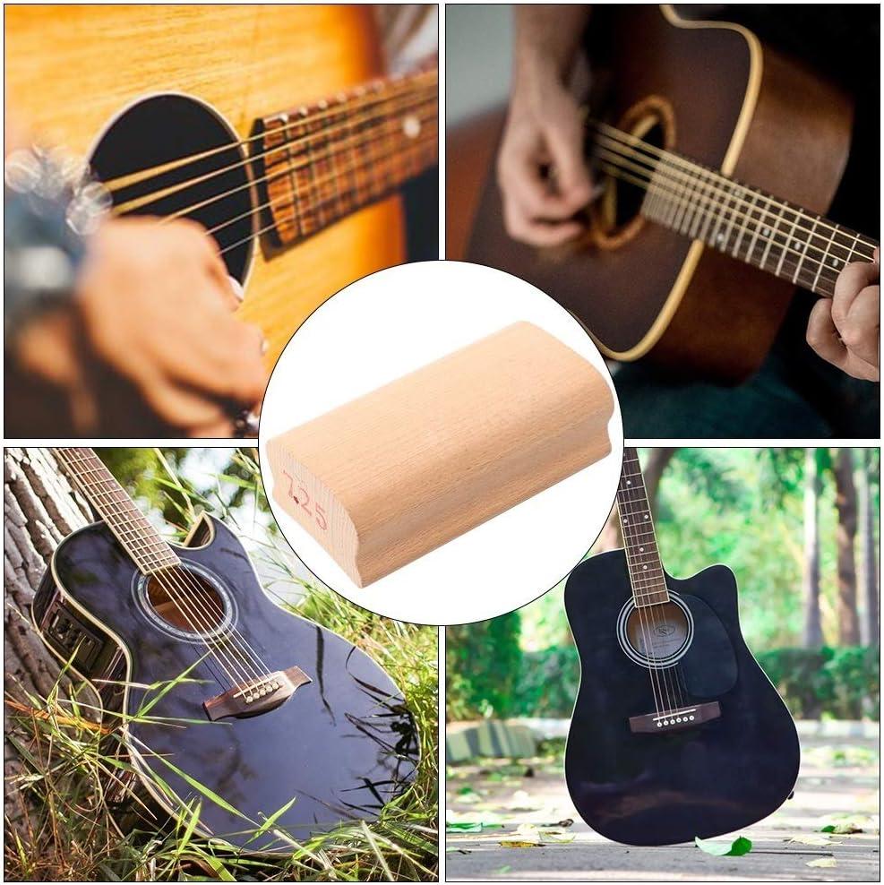 Rockyin Guitar Fingerboard Radius Sanding Block Fret Leveling Tool with Abrasive Paper 7.25