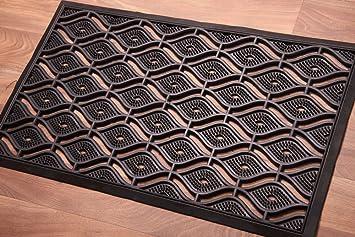Large Elegant Trellis Design 100% Rubber Outside Doormat 45x75cm Amazon.co. uk Kitchen \u0026 Home & Large Elegant Trellis Design 100% Rubber Outside Doormat 45x75cm ...