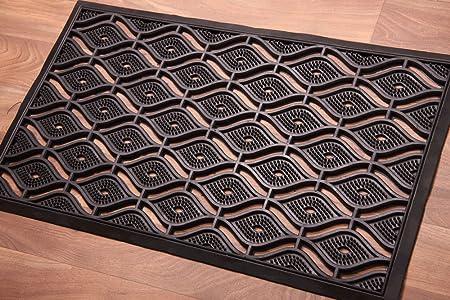 Merveilleux Large Elegant Trellis Design 100% Rubber Outside Doormat 45x75cm