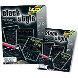 FOLIA 193 - Black Style Gelschreiber-Papier 100 g/qm, DIN A4, 20 Blatt, schwarz