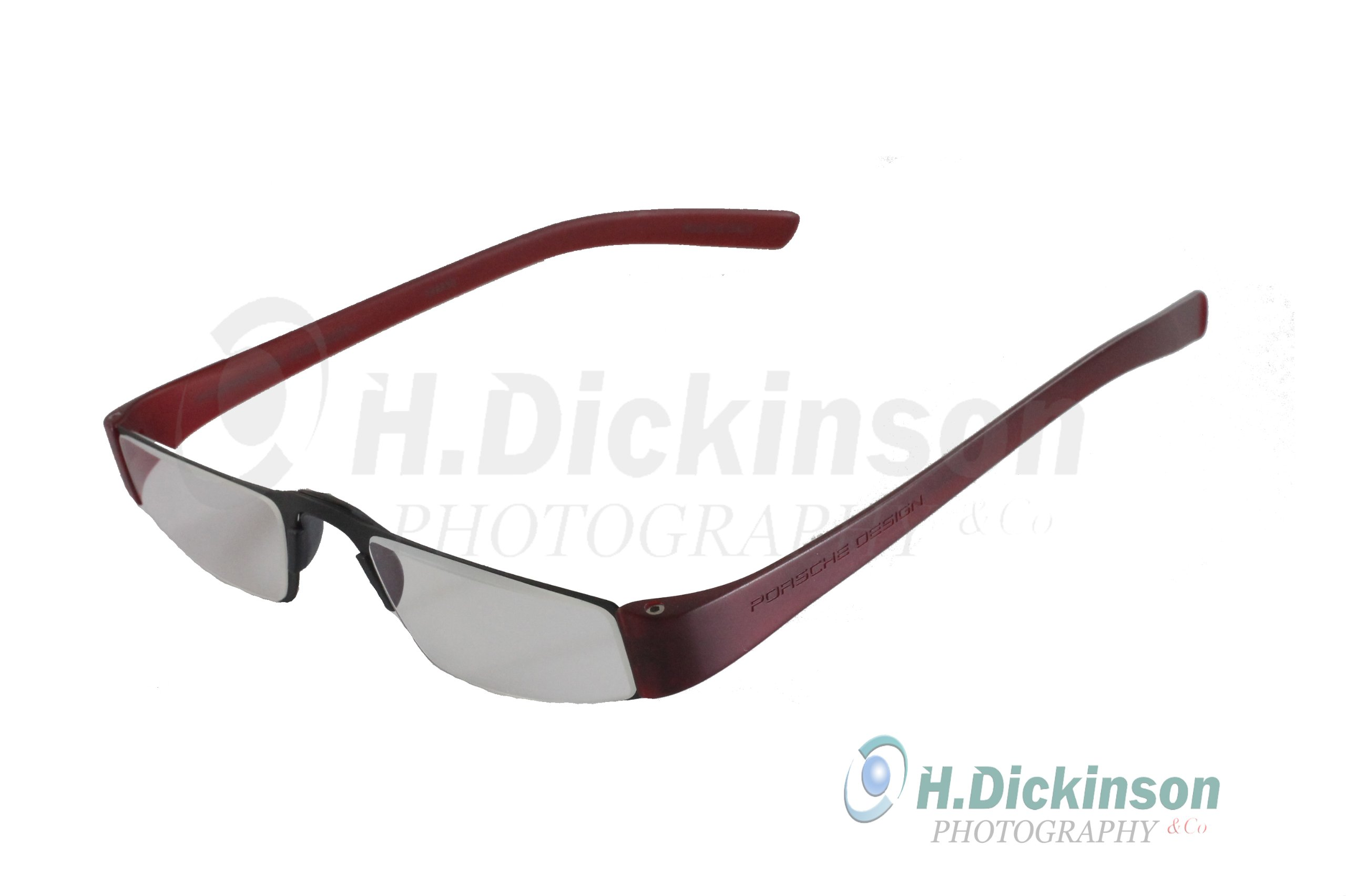 Porsche Design +1.50 Lenses Reading Tools Model P'8801 ~ Matt Black Frame/Red Color temples with lightweight Anti-Reflection coated lenses for incredible lightness and comfort in wear ~ +1.50 Lens Strength