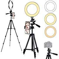 Ring Light, [2020 Newest] Diyife Ring Light with Tripod Streaming Light Dimmable LED Selfie…