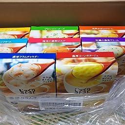 Amazon ポッカサッポロ じっくりコトコトスープ 8種アソートパック 濃厚コーン1箱 3食入 濃厚クラムチャウダー1箱 3食入 海老の濃厚ビスク1箱 3食入 完熟かぼちゃクリーム1箱 3食入 ブロッコリーチーズ1箱 3食入 マッシュルームチーズ1箱 3食入 牡蠣の濃厚