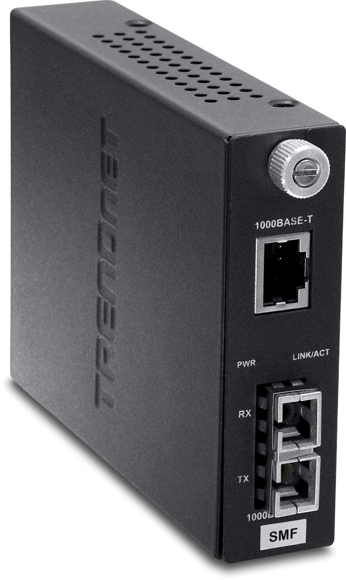 TRENDnet Intelligent 100Base-TX to 100Base-FX Dual Wavelength Single Mode SC Fiber Converter (20 km / 12.4 miles), Lifetime Protection, TFC-110S20D3i