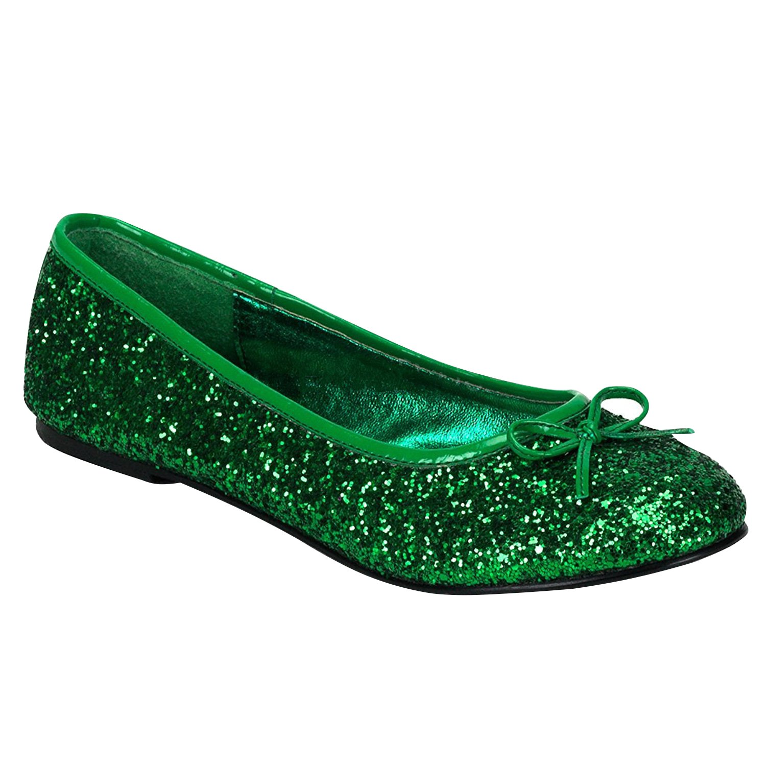 Funtasma STAR-16G womens Flats Shoes B074F3VJYV 7 B(M) US|Green Glitter