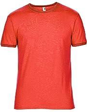 6c208419d6 Anvil Mens Plain Lightweight Ringer T-Shirt