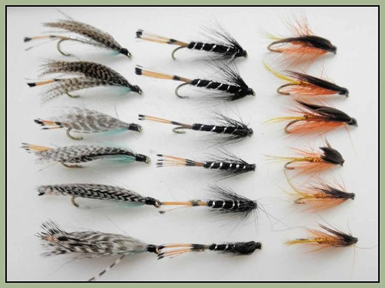 Black Frances x 3 salmon flies doubles and trebles sizes 8 10 and 12